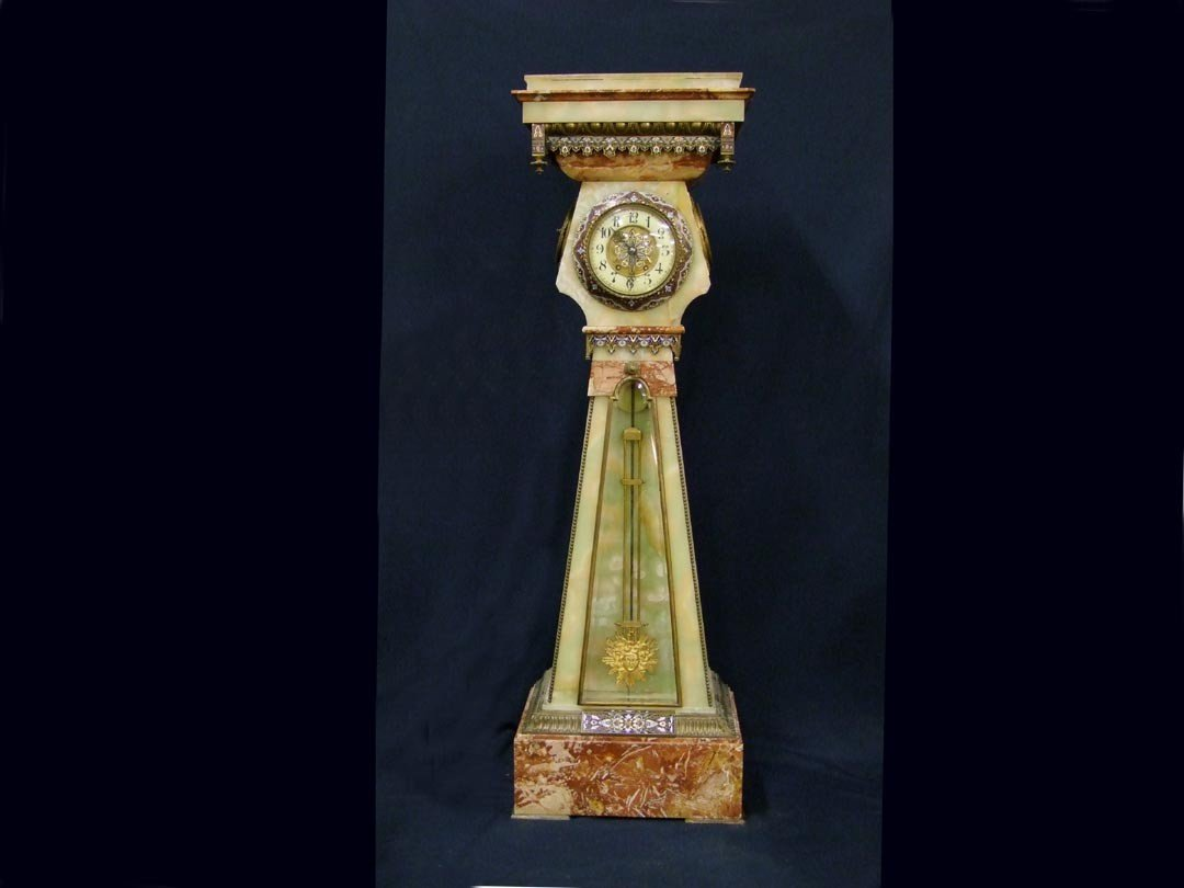 40: Palatial French Marble Floor Clock