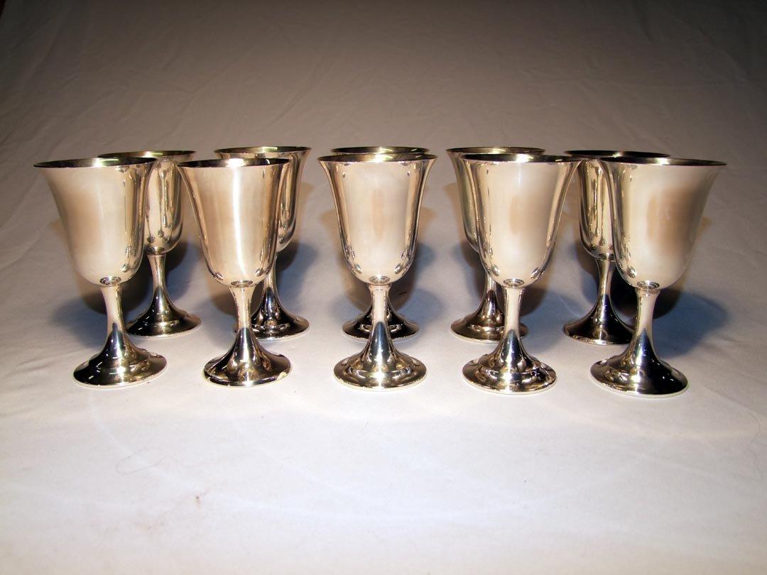 1: Ten Sterling Silver Goblets