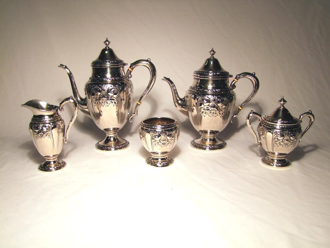 12: 5-Piece Sterling Coffee And Tea Service By Amson