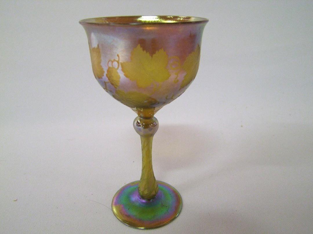 17: Intaglio Cut Gold Tiffany Goblet