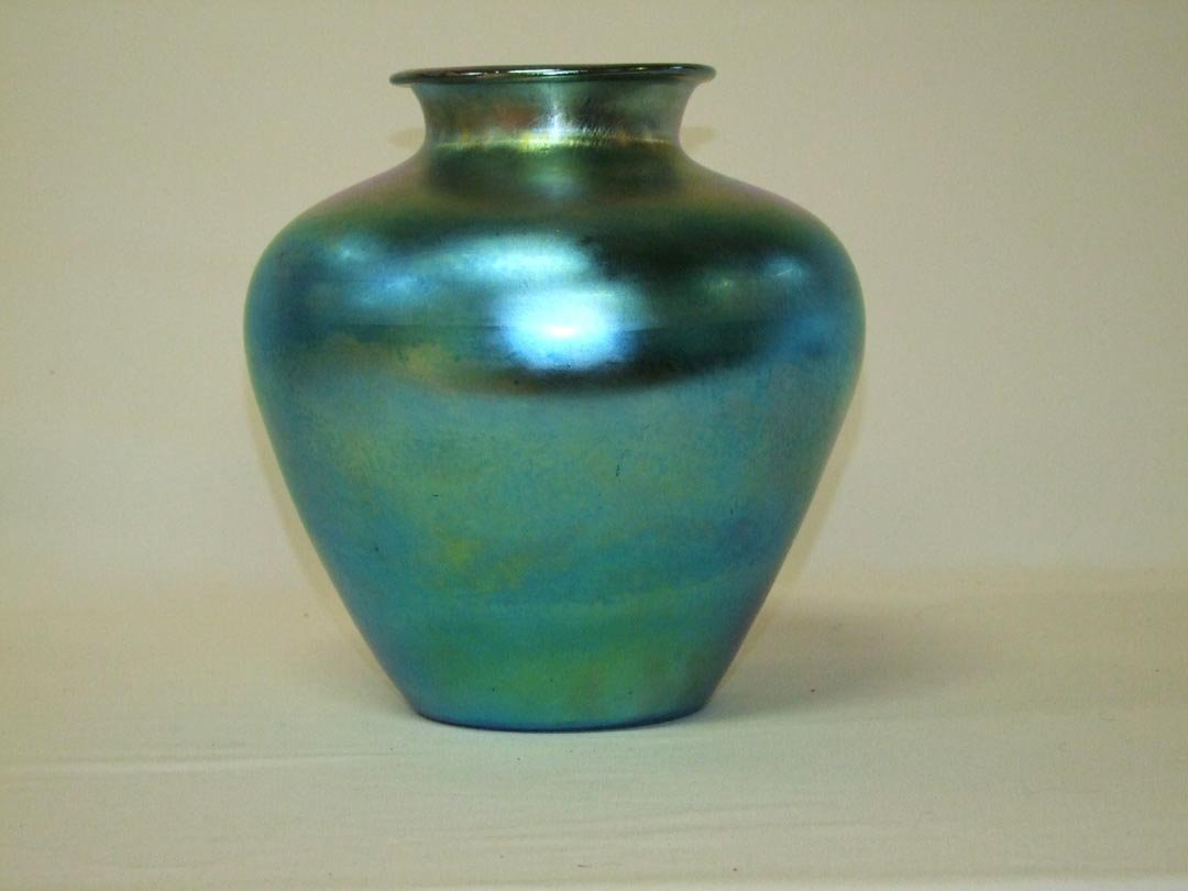 "21: 12"" Steuben Blue #2683 Vase"