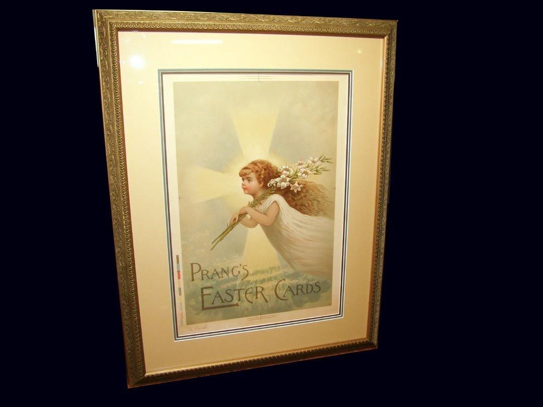 "68: Original ""Prang's Easter Card"" Advertising Poster"