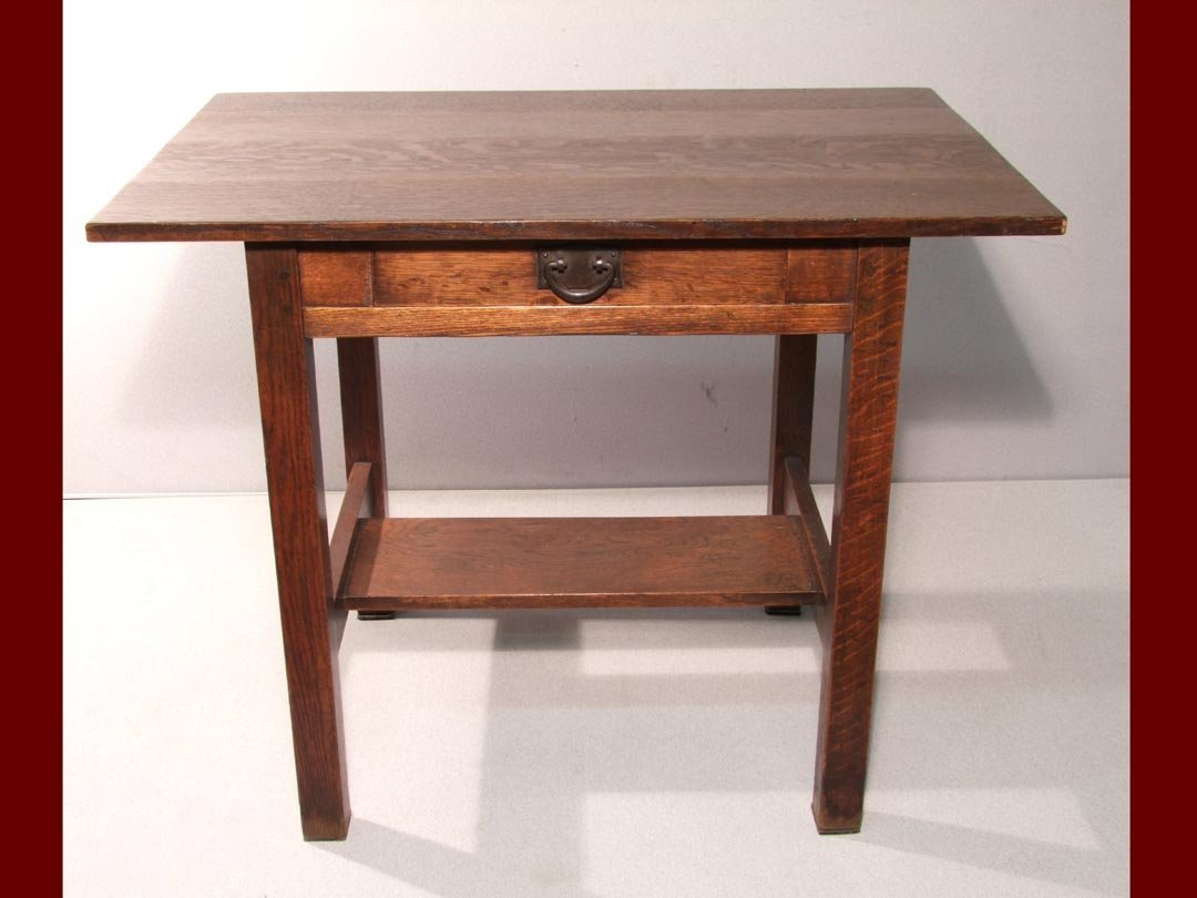 120: Gustav Stickley Library Table
