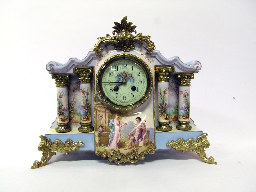 31: Magnificent French Porcelain Clock