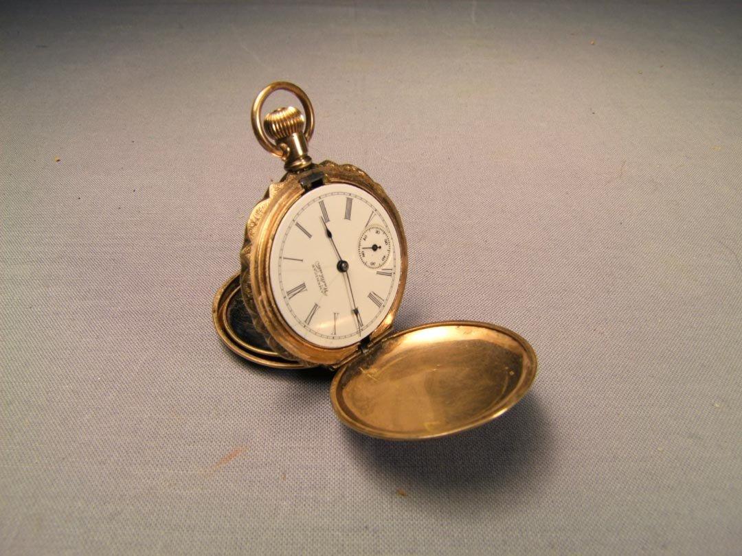 2: 14K Lady's Hunter Case Pocket Watch