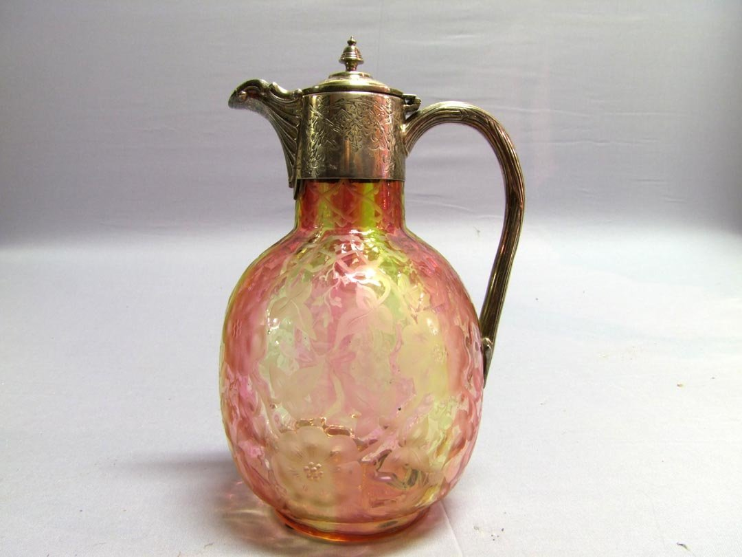 5: Etched Rose And Yellow Webb Pitcher
