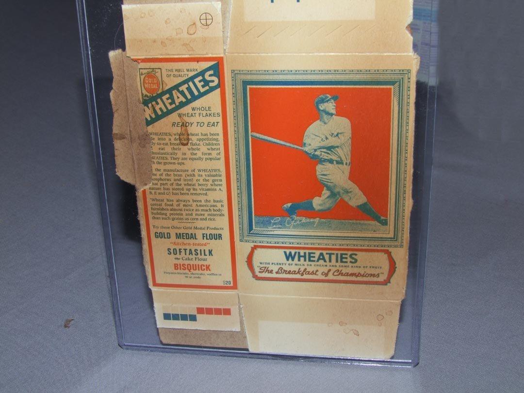 241: Uncut Wheaties Lou Gehrig Card