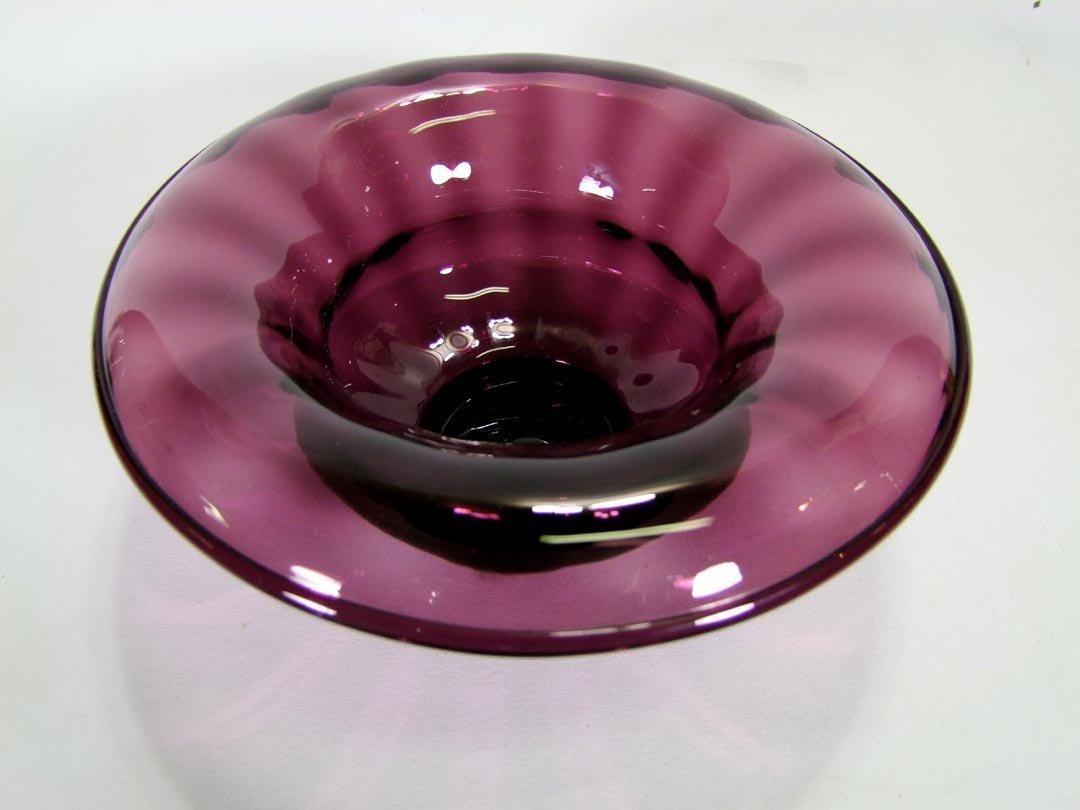 Steuben Amethyst Console Bowl