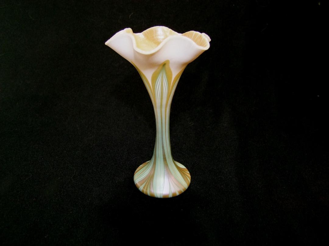 Pulled Feather Quezal Vase