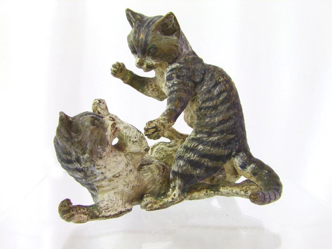 Austrian Bronze Of Playful Kittens