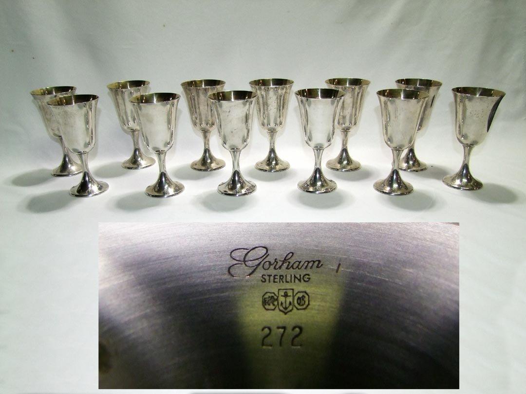 12 Sterling Silver #272 Goblets