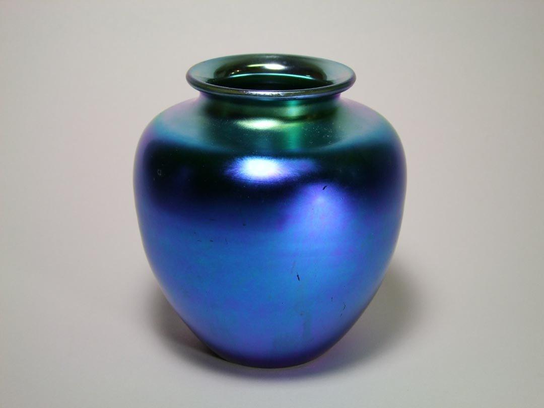 Steuben Blue Vase