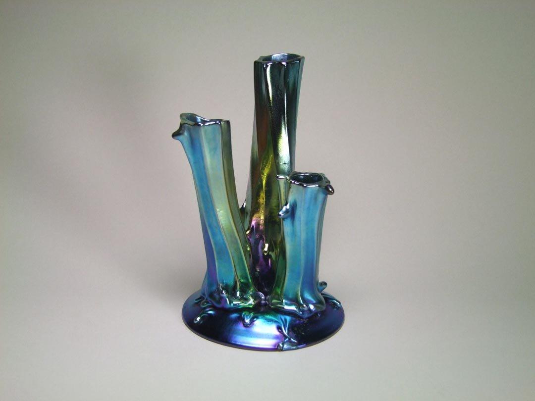 Blue Aurene Tree Trunk Vase