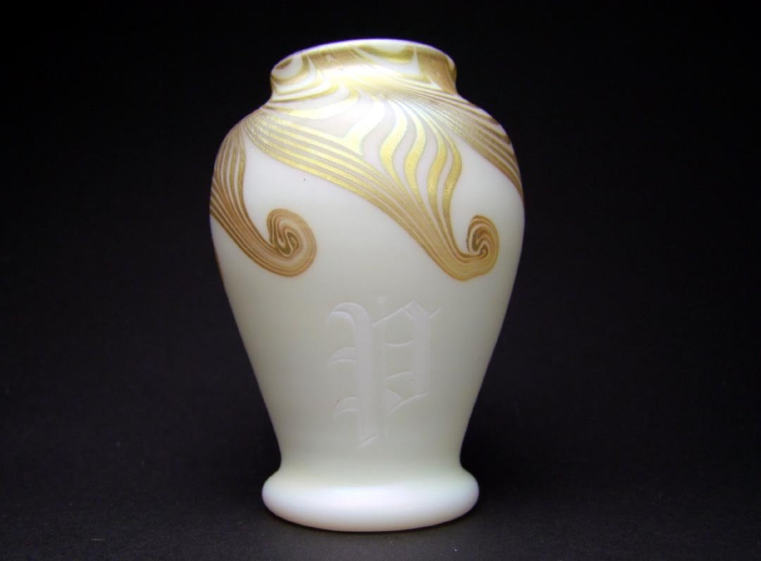 Steuben Monogrammed Vase