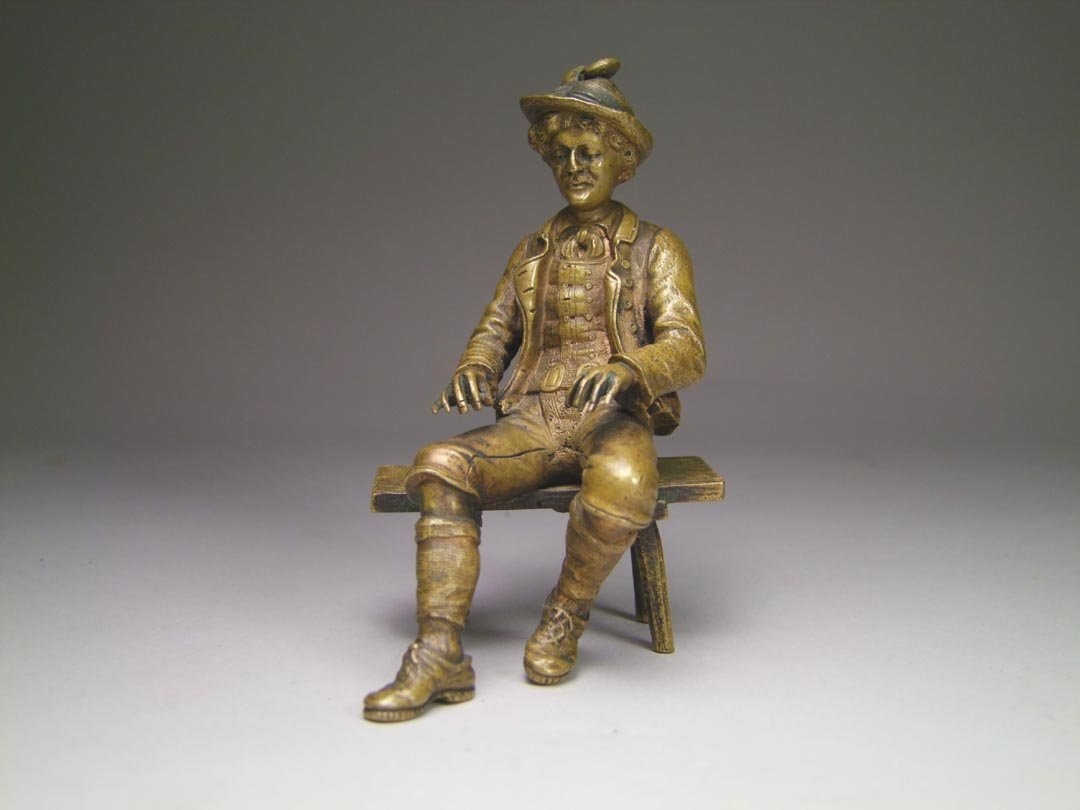 Seated Bronze Figure