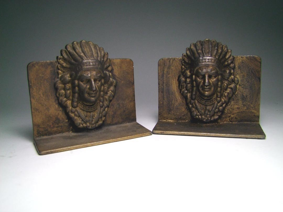 Indian Head Bookends