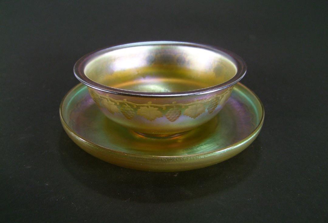 Tiffany Intaglio Cut  Bowl & Underplate