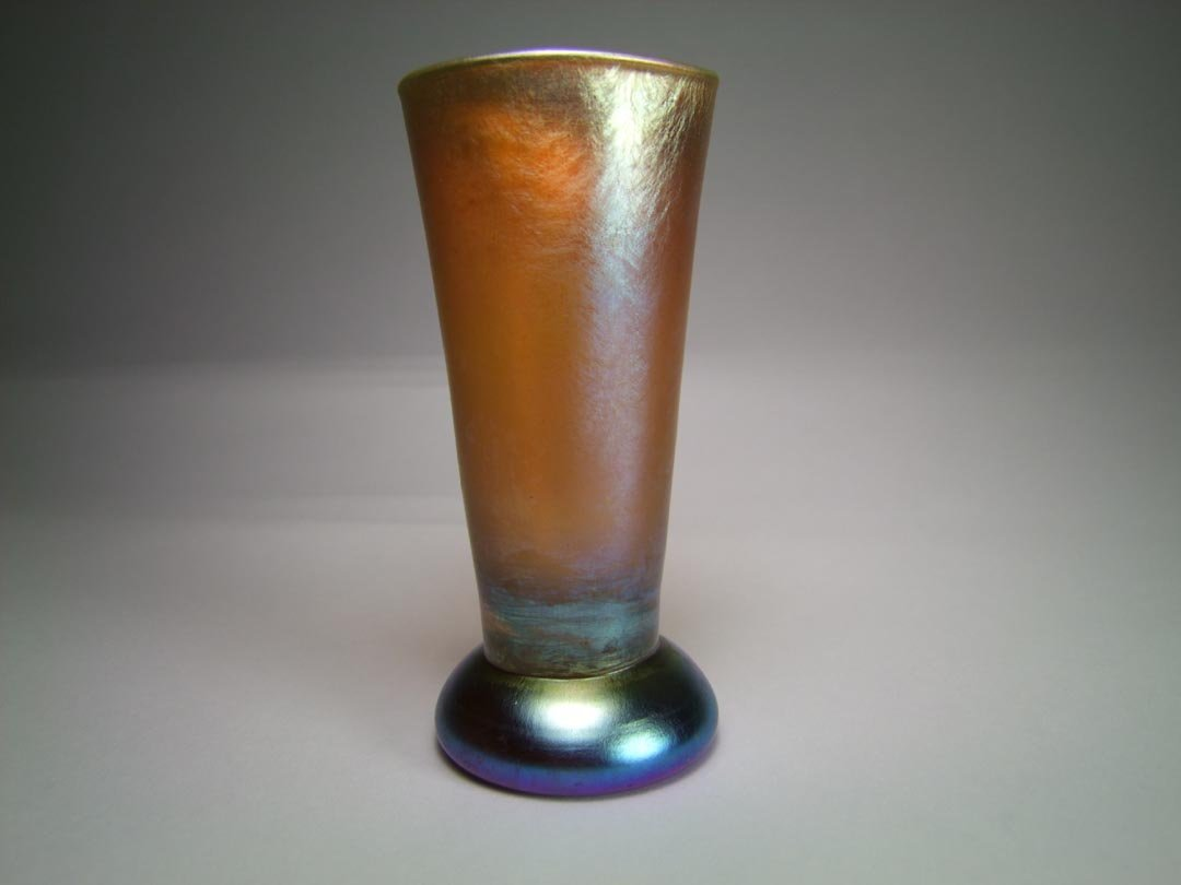 Tiffany Gold Paperweight Vase