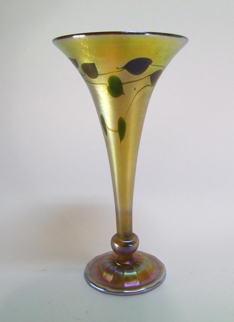 "15"" Tiffany Trumpet Vase"