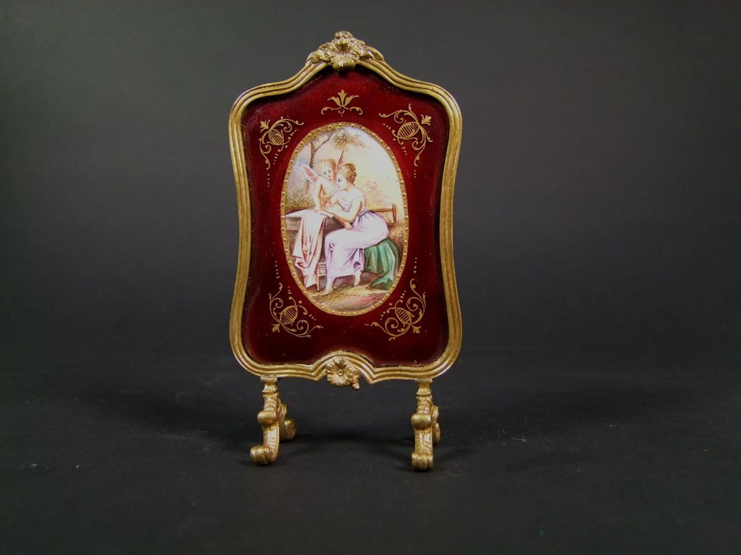 Miniature Enameled Screen