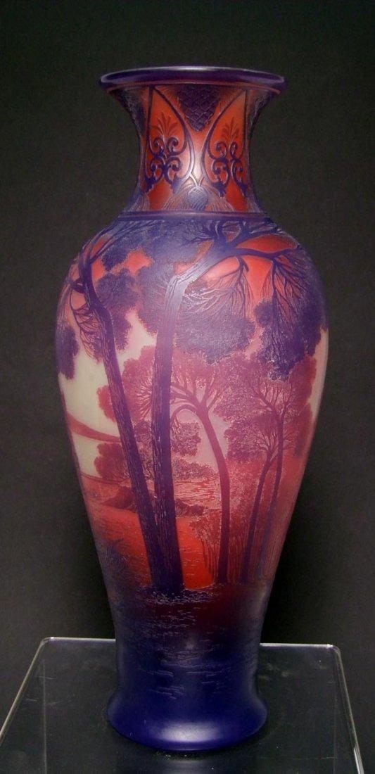DeVez Scenic Cameo Vase