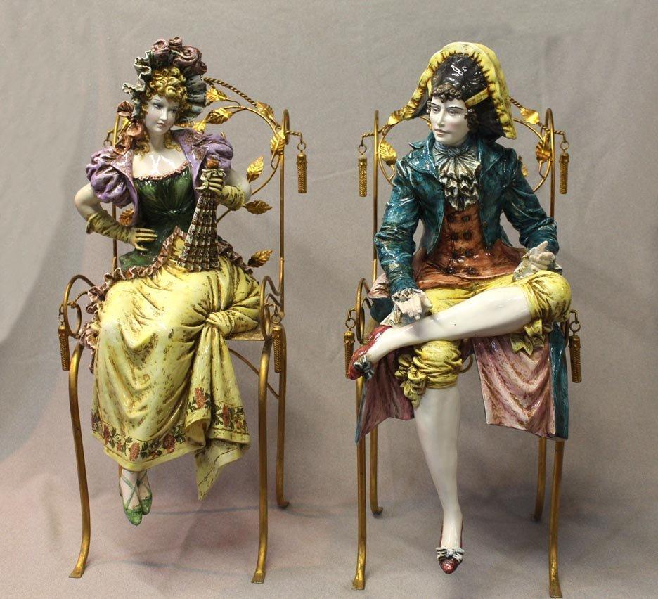 Large Seated Italian Figures