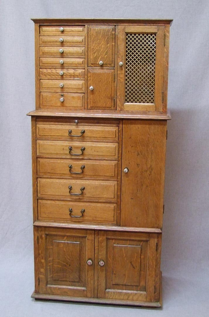 Quarter Sawn Oak Dental Cabinet
