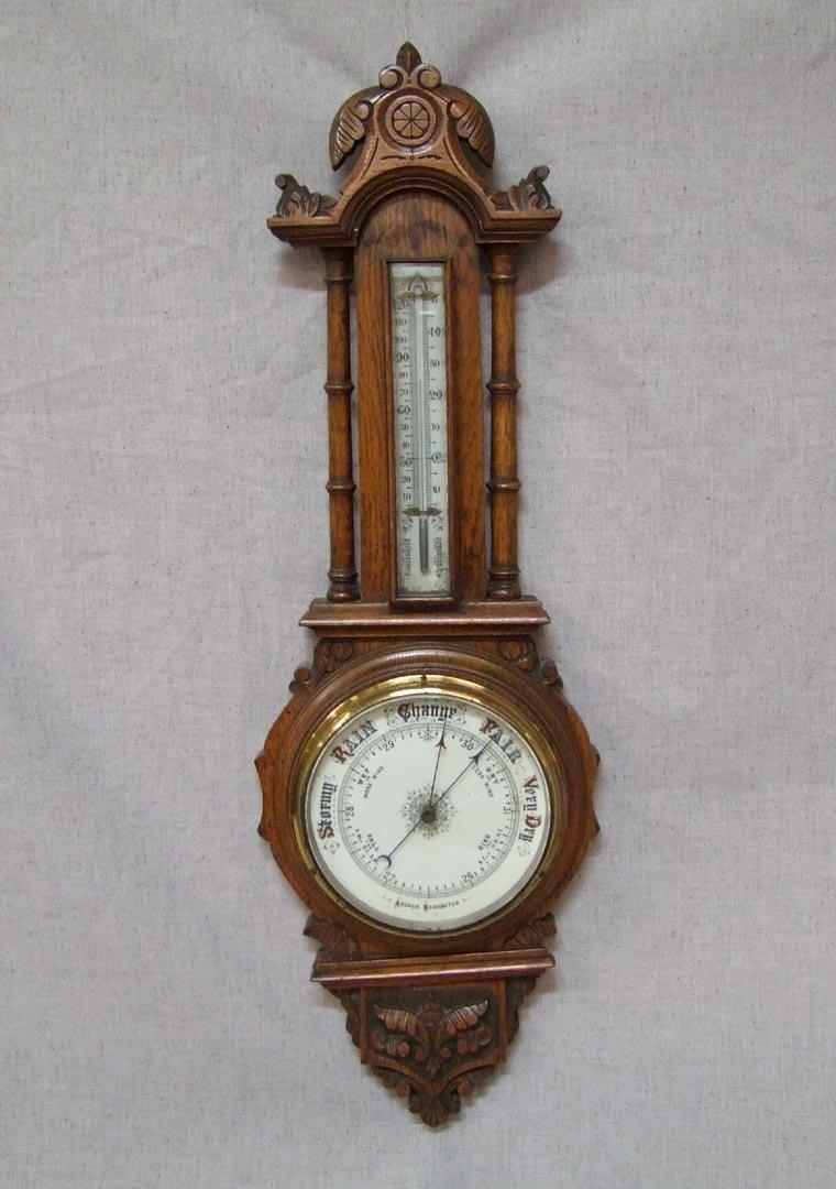 Aneroid Oak Barometer