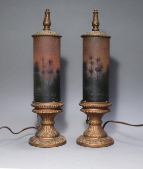 Texture Painted Cylinder Lamps