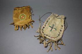 Two Indian Beaded Bags