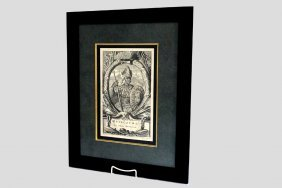 1671 Engraved Portrait Of Montezuma