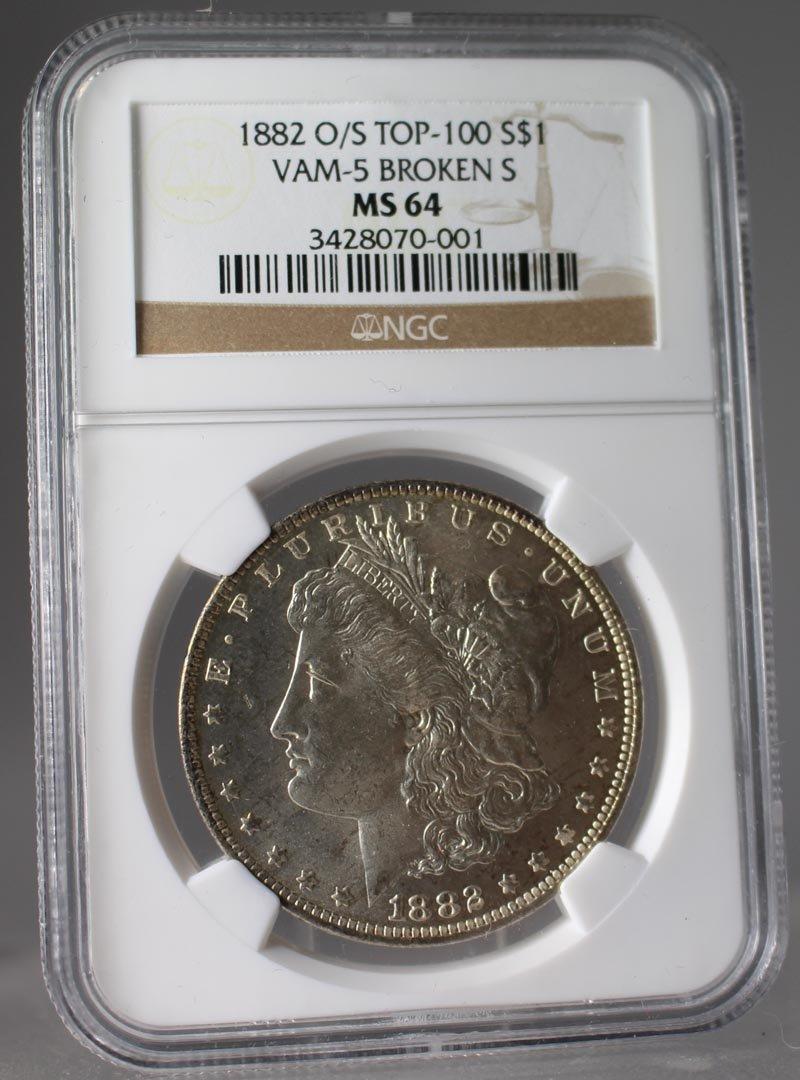 1882 o/s Morgan Dollar NGC Graded MS 64