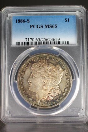 1886-s Morgan Dollar Graded Ms65