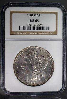 1881-o Morgan Dollar Ms65