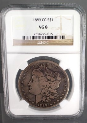 1889-cc Morgan Dollar Vg8