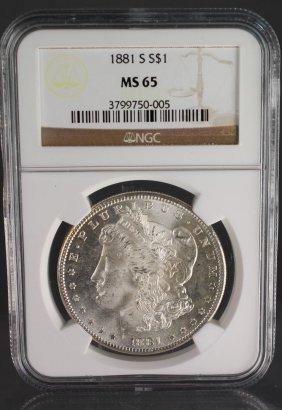 1881-s Morgan Dollar Ms65