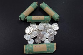 Four Rolls Of 1964-d Dimes