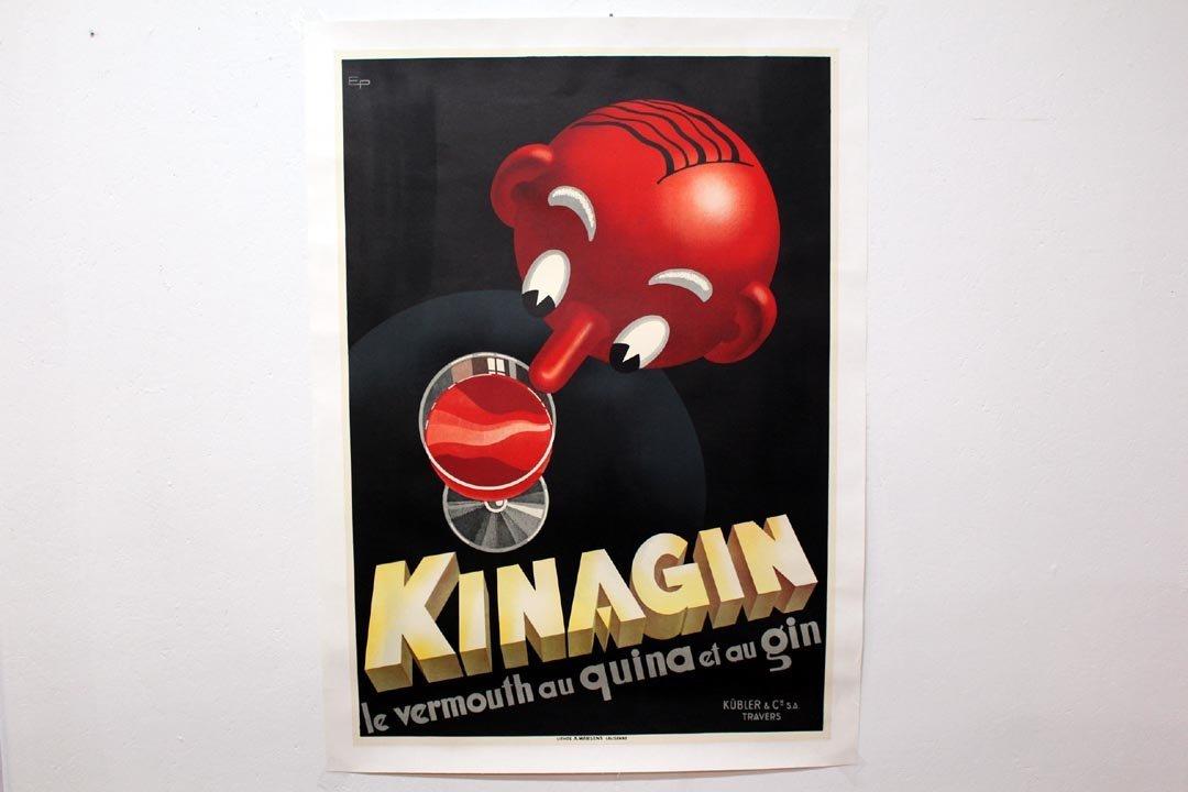 Linen -Backed Kinagin Poster