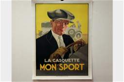Linen Backed Mens Fashion Poster