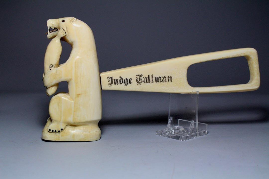 Carved Walrus Tusk Gavel