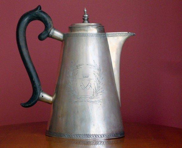 1A: Silver coffee pot mark E.D. Moscow, 1793