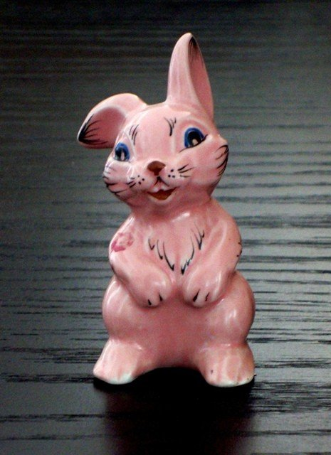6: A Soviet Porcelain Figure of a Pink Hare