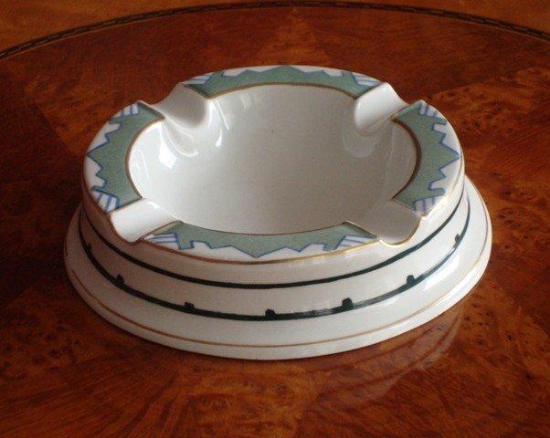 12: A Porcelain Ashtray, signed V.A