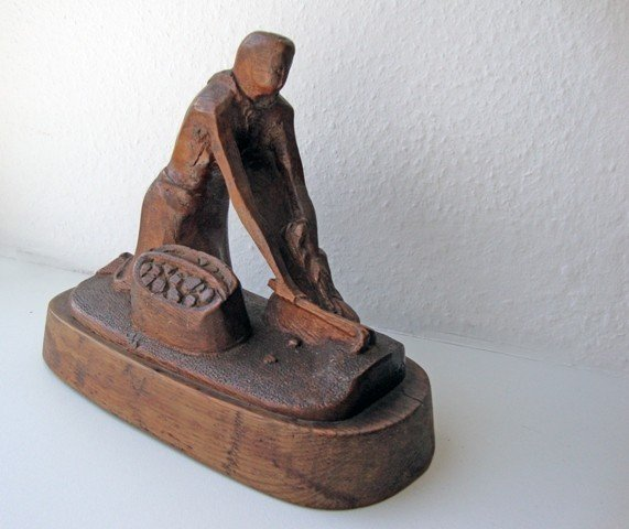 A Carved Wooden Figure