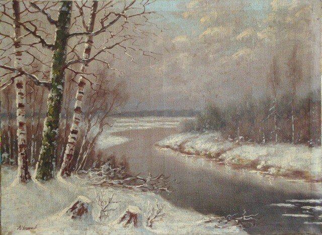 23: River in winter