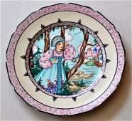 """37: A painted plate """" Vasilisa """""""