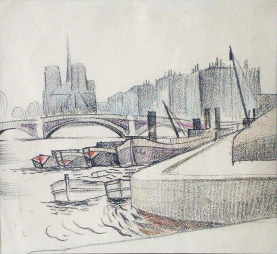 2: Dobuzinskij Mstislav Valerianovic (1875-1957)- Paris