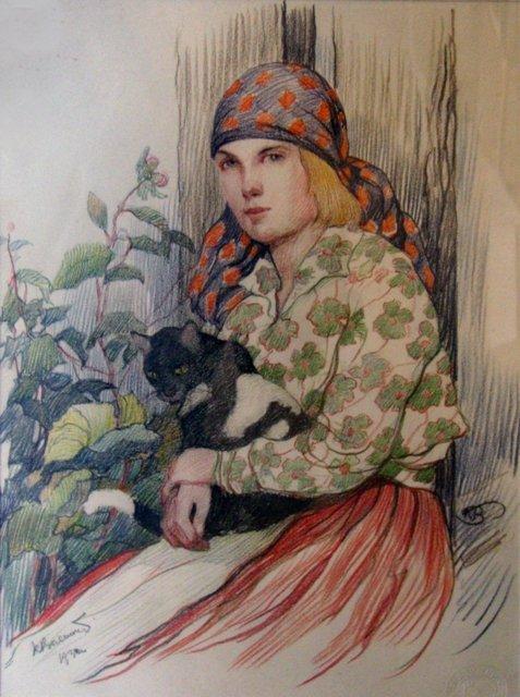 8: Brencens Karlis - Girl withcat