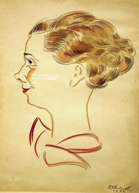 15: Unknown artist - Womensface in profile