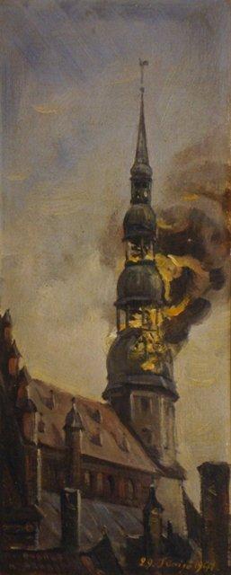 24: Caune Voldemars - Burningtower ofSt Peter church